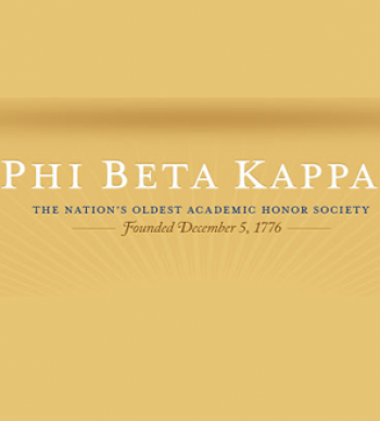 Congratulations to the Mathematics Concentrators Elected to Phi Beta Kappa